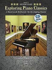 Explorando Piano Classics repertorio, nivel 2 una obra maestra Método. Bachus, Alfred