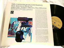 BERTRAM & NANCY TURETZKY Contemporary Contrabass John Cage Pauline Oliveros LP