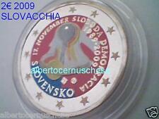 2 euro 2009 SLOVACCHIA fdc smaltato colorato Slovaquie Slovensko sloboda