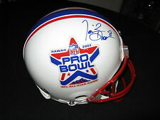 Tim Brown Rich Gannon Oakland Raiders Signed Authentic Pro Bowl Helmet PSA