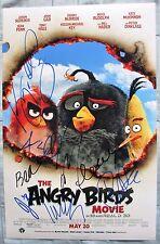 THE ANGRY BIRDS MOVIE CAST SIGNED 11X17 PHOTO JASON SUDEIKIS JOSH GAD 8+ DC/COA