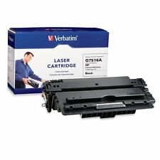 Verbatim HP Q7516A Black Remanufactured Laser Toner Cartridge, 96459