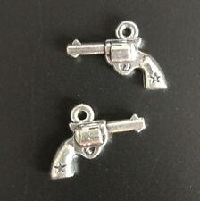 10pc Charms pistol Pendant Beads Jewellery Making Tibetan Silver Wholesale J0047