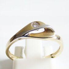 Ring Gold 375 Goldringe 0,045 ct. Brillant 9 kt. Brillantringe Diamant