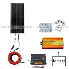 ECO 100W Off Grid Solar Panel Kit w/ 20A Regulator & 1KW Pure Sine Inverter
