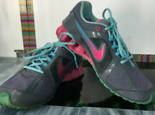 Nike Reax Run 8 Women's Gray Turquoise Pink Running Shoes Size 10  #599562-401