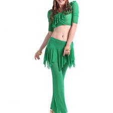 C814 danza vientre disfraz con 2 piezas opaca top + pantalones belly Dance