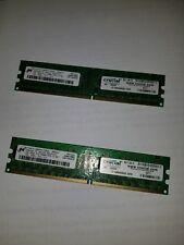 MICRON / CRUCIAL 1GB 2Rx8 PC2-4200E DDR2 533Mhz CL4 ECC DIMM - QTY 2