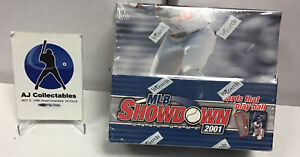 Factory Sealed 2001 Mlb Showdown Booster Packs Box 36 Packs Per Box 7 Cards/pack