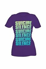 Suicide Silence Repeat Logo Girls T-Shirt, Large
