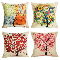 "Outdoor Throw Pillow Covers Set of 4 Patio Garden Couch Cushion Case 18"" X 18"""