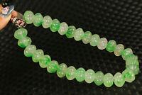 old jade jadeite handmade Buddha 30 piece beads pendant bracelet collection gift