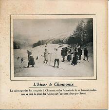 CHAMONIX c. 1910 - Piste de Ski Hiver Alpes Haute Savoie - 119