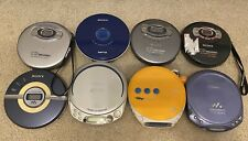Sony Cd Walkman Lot Of 8 Portable Cd Players (W/ Carrying Case & 2 Power Cords)