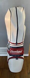 Cleveland Golf Staff Bag, leather. 10.5 In Diameter, 6 way divider. Rain hood.