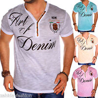 ZAHIDA Herren T-Shirt Italia Shirt Clubwear V-Neck Designer Polo M L XL XXL NEU