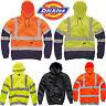 Hi Vis Dickies Hoodie Safety Work Wear High Visibility  Zip Jacket Sweatshirt