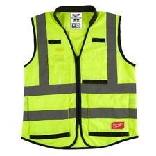 New listing Milwaukee Premium Small/Medium Yellow Class 2 High Visibility Safety Vest