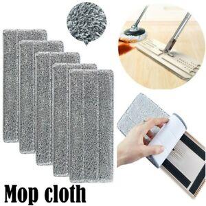 4PCS Microfiber Mop Pads Head Wet Dry Mops Refill For Flat Mop Base UK