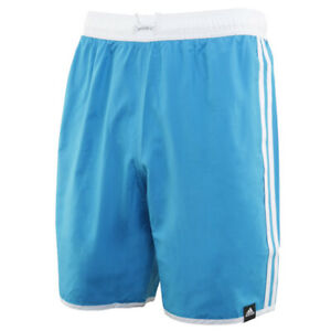 Adidas 3-Stripes CLX Swim Shorts Swimming Pool Swimwear Light Blue FJ3364