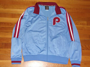 NEW MAJESTIC PHILADELPHIA PHILLIES FULL ZIP ATHLETIC JACKET MENS MEDIUM