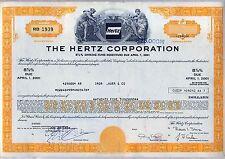The Hertz Corporation Bond Stock Certificate Auto