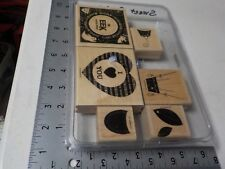 Stampin Up Sweet Centers Set 6 Wood Mounted Rubber Stamps Euc A6812