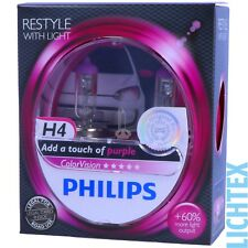 H4 PHILIPS ColorVision PINK - Styling - Scheinwerfer Lampe DUO-Pack-Box NEU