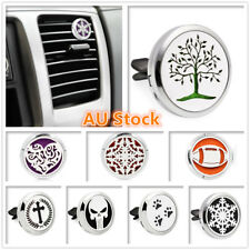 Car Air Freshener Vent Clip Metal Stainless Steel Fragrance Perfume Oil Diffuser