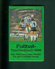 Fußball Taschenbuch Nachschlagekalender für Fußballfreunde Kalender 1986 Fotos