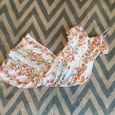 New ANTHROPOLOGIE Women's Button Front Boho Floral Maxi Summer Dress Size LARGE