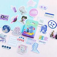 46 Pcs/box Cute Vaporwave Label Kawaii Diary Adhesive Paper  Flake Sticker.UYNS