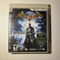 Batman Arkham Asylum Sony Playstation 3 2009 T-Teen Complete Tested/Working