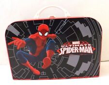 Spider-Man Suit Case Hard cardboard Plastic Carrying Case with Handle and Clasp