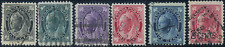 Canada #66-70,87 used F/F-VF 1897-1898 Queen Victoria Maple Leaf Part Set