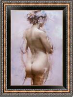 "Hand painted Original Oil Painting art Impressionism nude girl on canvas 24""x36"""