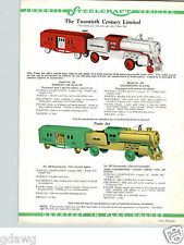 1934 PAPER AD COLOR Locomotive Train Erie Ride On Steelcraft Murray Pedal Car