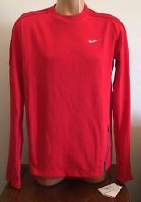 Size Large L Nike Dynamic Crew Long Sleeve Men's Warm Running Shirt Red 717797