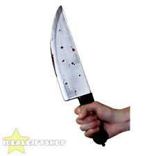 "PLASTIC 14"" KNIFE TOY FANCY DRESS ACCESSORY PROP HALLOWEEN SCARY BLOOD"