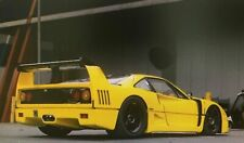 Ferrari F40 GT Yellow/Gelb customized Black wheels Carbon wing UNIQUE in 1:18