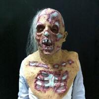 Halloween Prop Walking Dead Latex Mask Full Head Horror Zombie Masks Decor