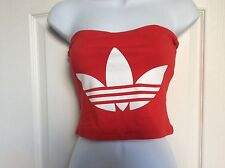 Bustier' Bandeau Adidas Rouge, Taille 38