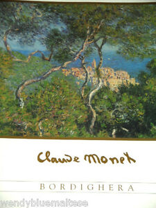 Bordighera by Claude Monet Framed Print Trees Village & Seascape 51x41cm