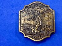 Collectable  rare 1976 CocaCola Company belt buckle  boy with fishing pole
