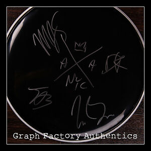 GFA Best Day of My Life AMERICAN AUTHORS Signed New Drumhead PROOF AD1 COA