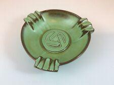 Vintage Frankoma Pottery Ashtray Prairie Green Signed