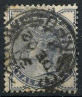 GB QV 1883-4 SG#187, 1/2d Slate-Blue Used #D14372