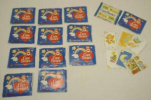 12 Panini Care Bears Sticker Packs 1985