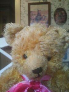 Antique Vintage 1950s American cotton Gund Teddy bear 12.5in GUC