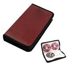 Newest 80 Disc CD Holder DVD Case Storage Wallet VCD Organizer Faux Leather Bag